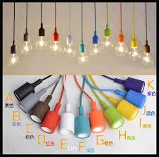 colorful pendant lighting. discount wholesale price art decor silicone e27 pendant lamp light bulb holder hanging lighting fixture base socket silica gel retro colorful ball i