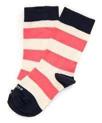 pink elephant stripe rugby socks