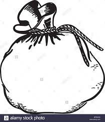 Money Bag Retro Clipart Illustration Stock Vector Art