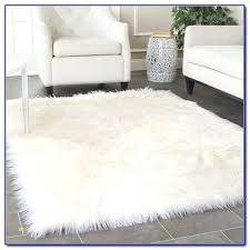 large white fur rug new faux rugs home design ideas area