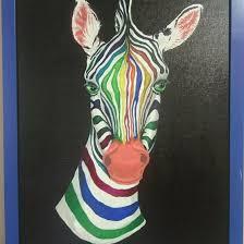"""<b>Картина</b> """"зебра"""", <b>холст</b>, акрил, <b>40x50</b> – купить в Раменском, цена ..."""