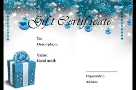 christmas gift card templates christmas gift certificate templates