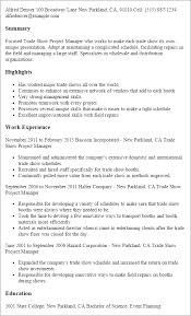 Example Of Management Skills Professional Trade Show Project Manager Templates To Showcase Your