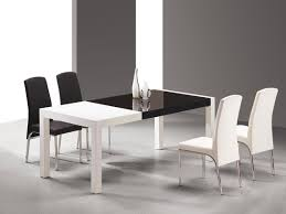 elegant dining room decoration using white lacquer dining table surprising black and white dining room