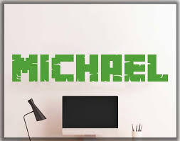 Personalized name in <b>minecraft</b> styleunofficial <b>wall decal</b>   Etsy