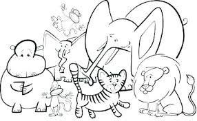 Animal Colouring Sheets Free Click The Baby Animals Coloring Zoo