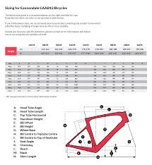 Cannondale Caad12 Size Chart Cannondale Caad12 Disc Road Frameset 2016