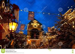 Rust Christmas Lights Europa Park Entrance In Christmas Spirit By Night Editorial