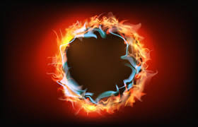 round fire frame images free vectors