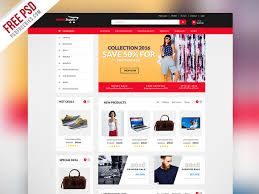 Free Ecommerce Website Templates Extraordinary MultiPurpose ECommerce Website Template PSD PSDFreebies