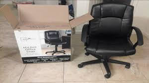 Colibrox Urban Ladder Unboxing And Assembling Mainstays Midblack Office Chair Youtube