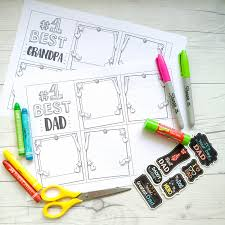 Printable father's day cards allow you to personalize your father's day card for dad and print it at home in minutes. Printable Zig Zag Mini Book For Father S Day Make And Takes