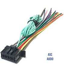 amazon com kenwood car stereo head unit replacement wiring harness asc car stereo power speaker wire harness plug for pioneer premier aftermarket dvd nav radio