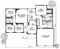 High Quality 7 Bedroom House Floor Plans New Ranch House Plan 5 Bedrooms 3 Bath 3312 Sq  Ft Plan 7 544