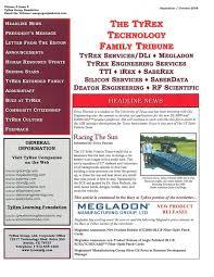 TyRex Newsletter: Sept-Oct (2008) | TyRex