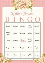Wedding Bingo Words 100 Bridal Bingo Cards Floral Bridal Shower Bingo Game