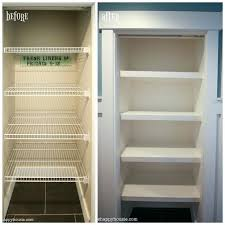 built in linen closet diy how to replace wire shelves with custom wood shelves the a built in linen closet diy