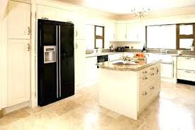 painted kitchen cabinets with black appliances. Cream Painted Kitchen Cabinets Colored With Black Appliances Pictures Design