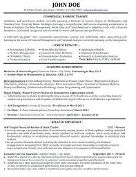 Financial Sales Consultant Sample Resume Beauteous Sample Resume Banking Project Description With Sample Bank Resume