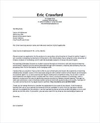 Sample Cover Letter Teacher