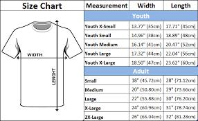 Shirt Sizes Chart