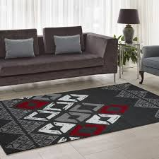area rugs flash gray geometric area rug