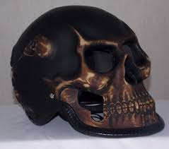 bronze ghost skull skeleton full face motorcycle helmet ooo laa
