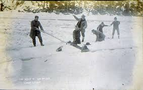 "knowledge or instinct jack london s ""to build a fire"" edsitement  rescuing a man who has fallen through ice"