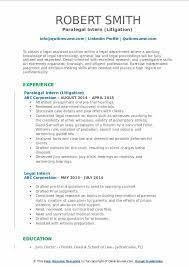 legal intern resume sles qwikresume