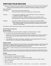 Sample Resume Career Change Resume For Study
