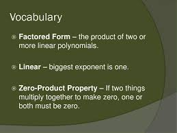 voary factored form the of two or more linear polynomials linear biggest 3 solve the equation