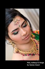 indian bridal make up emerald green