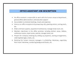 Office Duties Resume Meloyogawithjoco Delectable Office Assistant Duties On Resume
