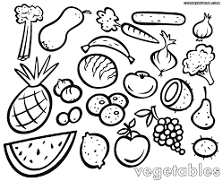 Small Picture Coloring Fruits And Vegetables Coloring Pages