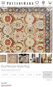 pottery barn 9x11 eva persian style rug 400 for in encinitas ca offerup