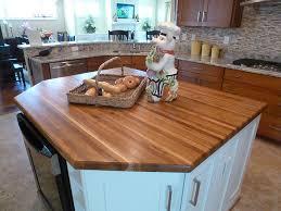 1 5 thick plantation teak edge grain countertop with 3 8 roundover edge treatment
