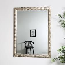 large gold rectangle deco mirror 90cm x