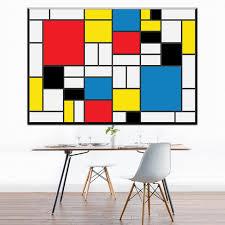 zz1078 modern abstract canvas art cuadro de piet mondrian oil art painting for livingroom bedroom decoration
