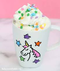 this diy unicorn mug is easy to make dishwasher safe and a perfect personalized