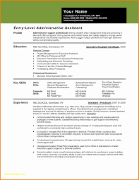 Resume For Administrative Assistant New 20 Resume Template For ...