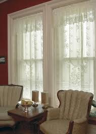 Lace Window Treatments Victorian Rose Lace Curtains By Heritage Lace Bedbathhomecom