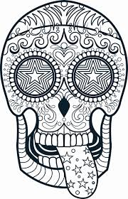 Sugar Skull Coloring New 52 Lovely Skull And Bones Coloring Pages