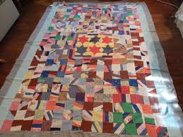 Vintage Quilt Tops | Tim Latimer - Quilts etc & Those stars in the center are so far from flat! It will be a challenge to  quilt it but it will be worth it. There are all kinds of fun fabrics in ... Adamdwight.com