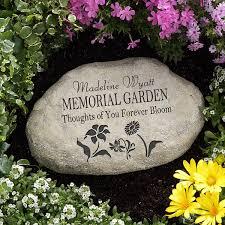 personalized memorial garden stone 12644
