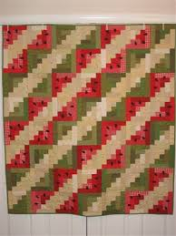 Watermelon log cabin quilt - Quilters Club of America & Watermelon log cabin quilt Adamdwight.com