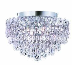 nerisa chrome crystal flush mount chandelier free today intended for contemporary house flush mount crystal chandeliers remodel