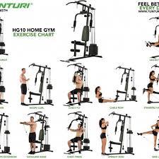Multi Gym Exercise Chart Tunturi Hg10 Home Multi Gym