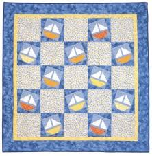 Baby-quilt designs: easy, easier, easiest - Stitch This! The ... & Sunny Sailors baby quilt Adamdwight.com