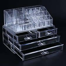 acrylic makeup holder cosmetic organizer 4 drawer storage jewellery box