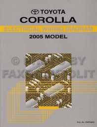 2005 toyota corolla wiring diagram manual original